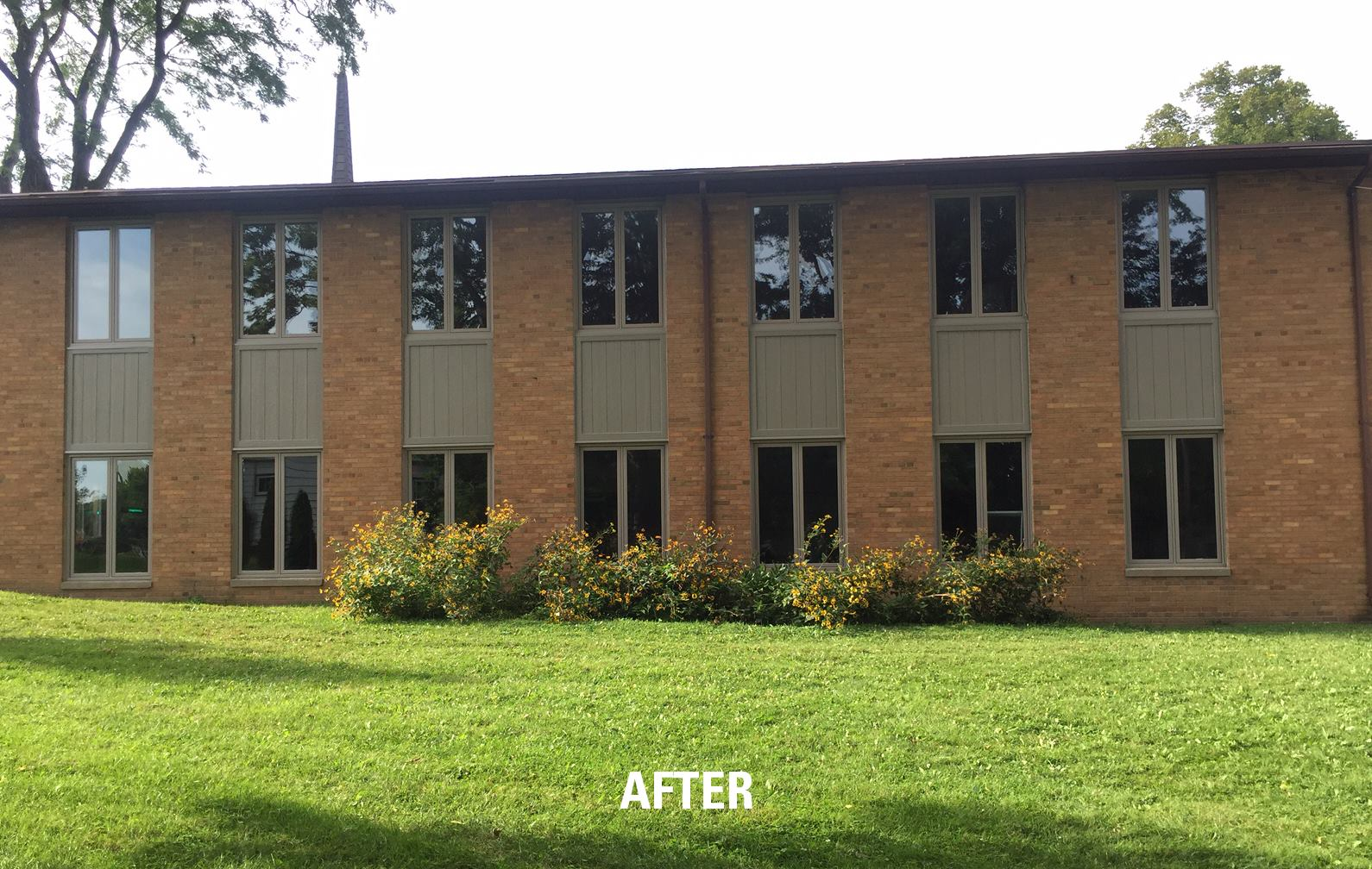 Large window replacement project Lake Edge Monona1