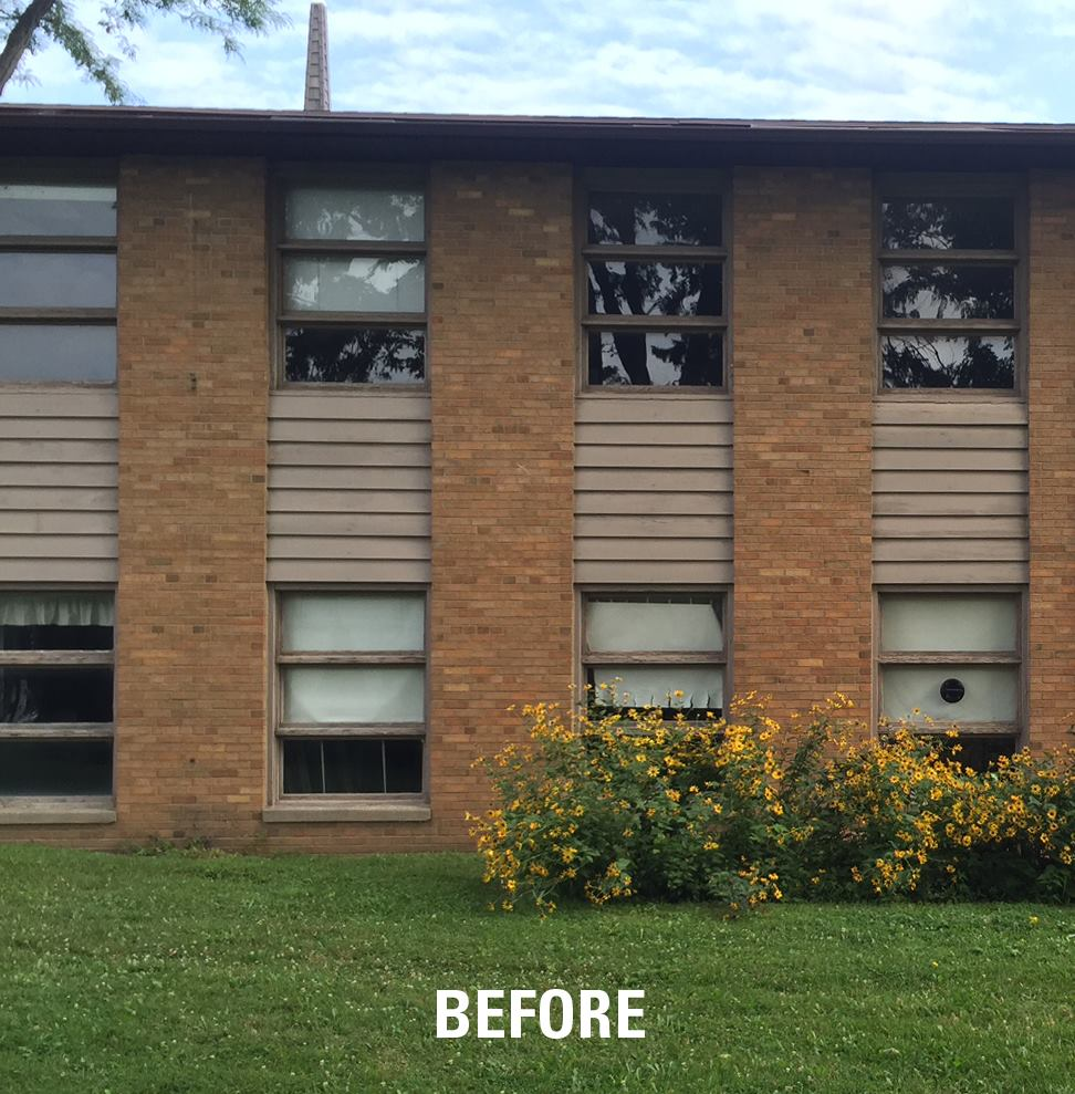 Large window replacement project Lake Edge Monona3